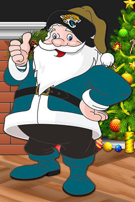 Jaguars Santa Claus Poster