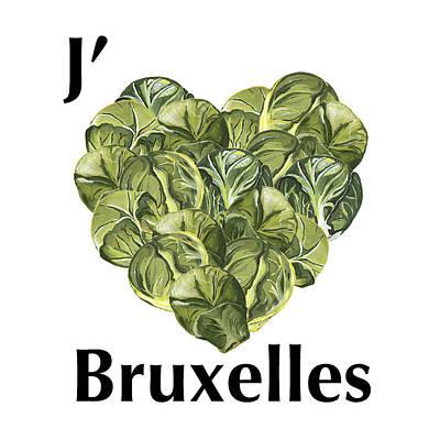 J'aime Bruxelles Poster by Judith V Breidenstine