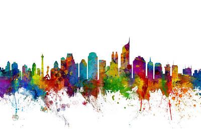 Jakarta Skyline Indonesia Poster