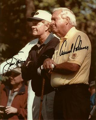 Jakc Nicklaus An Arnold Palmer 2000 Masters Sign Poster by Peter Nowell
