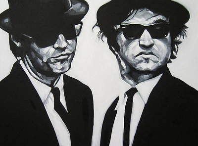 Jake And Elwood Poster by Steve Hunter