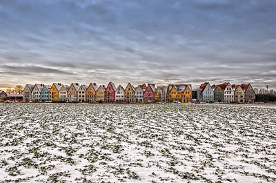Jakriborg From Snow Covered Field Poster by Antony McAulay