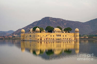 Poster featuring the photograph Jal Mahal  by Yew Kwang