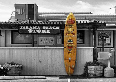 Jalama Beach Store Poster by Ron Regalado