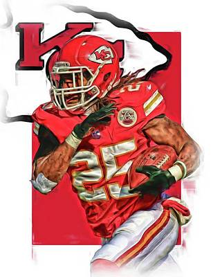 Jamaal Charles Kansas City Chiefs Oil Art Poster