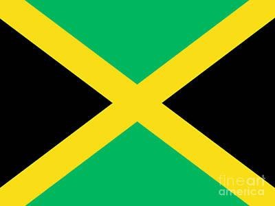 Jamaican Flag Poster by Steev Stamford