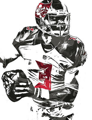 Jameis Winston Tampa Bay Buccaneers Pixel Art Poster by Joe Hamilton