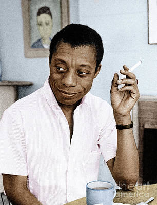 Poster featuring the photograph James Baldwin by Granger