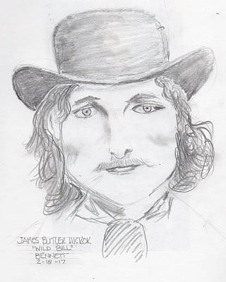 James Butler Hickok Poster by John Bennett