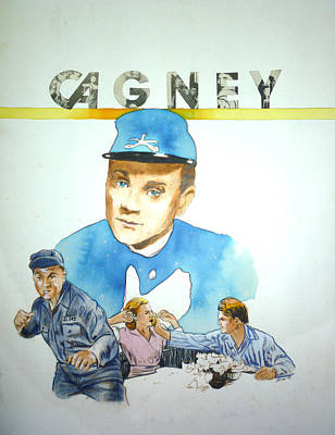 James Cagney Poster by Bryan Bustard