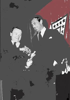 James Cagney Receiving An Oscar From Gary Cooper For Yankee Doodle Dandy 1943-2016 Poster by David Lee Guss