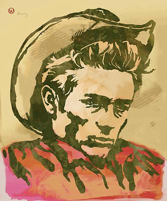 James Dean  -  Etching Pop Art Poster Poster