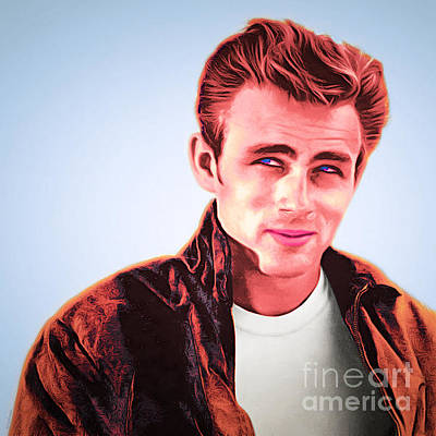 James Dean 20160415 Square Poster by Wingsdomain Art and Photography