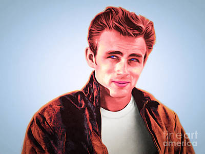 James Dean 20160415 Poster by Wingsdomain Art and Photography