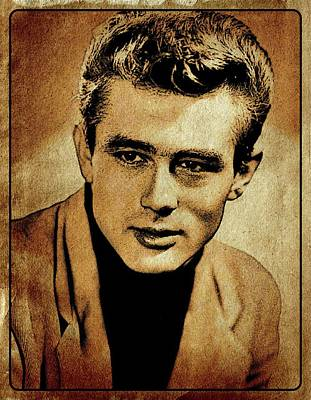 James Dean Hollywood Legend Poster by Esoterica Art Agency