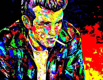 James Dean Poster by Mike OBrien