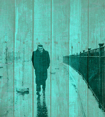 James Dean On Wood Poster