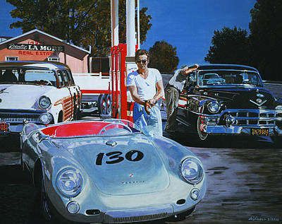 James Dean S Last Gas Stop Poster by Antje Wieser