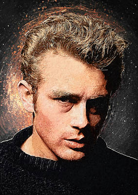 James Dean Poster by Taylan Apukovska