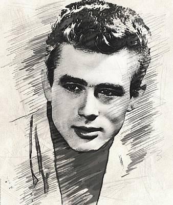 James Dean, Vintage Actor Poster