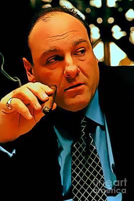 James Gandolfini As Tony Soprano Poster