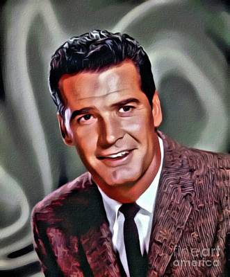 James Garner, Hollywood Legend, Digital Art By Mary Bassett Poster