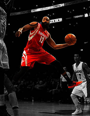 James Harden Poster by Brian Reaves