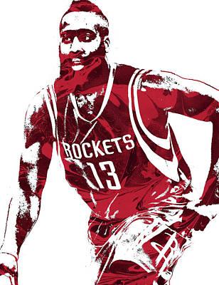 James Harden Houston Rockets Pixel Art 4 Poster