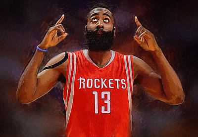 James Harden Poster by Semih Yurdabak