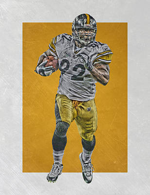 James Harrison Pittsburgh Steelers Art Poster by Joe Hamilton