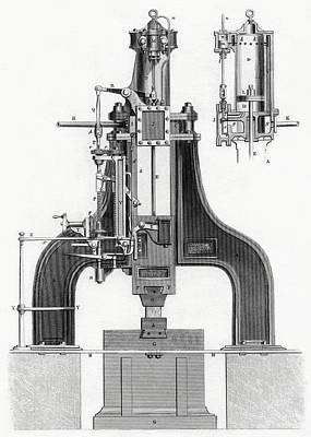 James Nasmyth S Patent Steam Hammer Poster