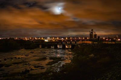 James River At Night Poster