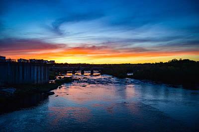 James River Sunset Poster