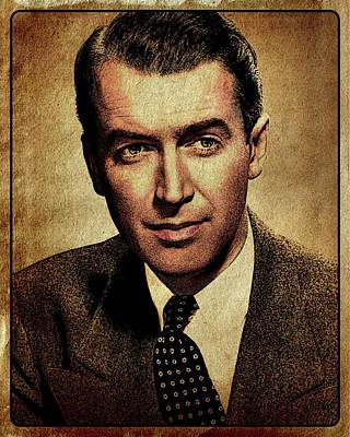James Stewart Hollywood Actor Poster by Esoterica Art Agency