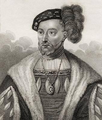 James V King Of Scotland 1512 - 1542 Poster by Vintage Design Pics