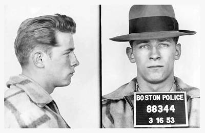 James Whitey Bulger Booking Photo 1953 Poster by Daniel Hagerman