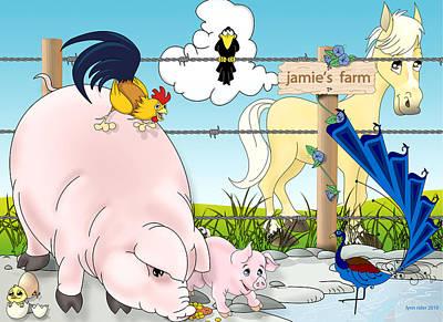 Jamie's Farm Poster by Lynn Rider