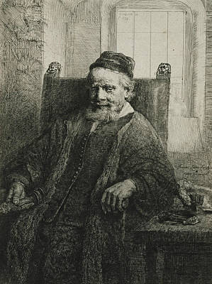 Jan Lutma, The Elder, Goldsmith And Sculptor Poster by Rembrandt