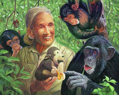 Jane Goodall Poster by Steve Simon
