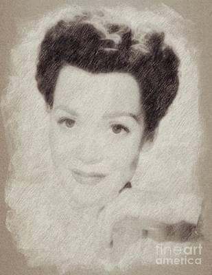Jane Wyman, Actress Poster by Frank Falcon