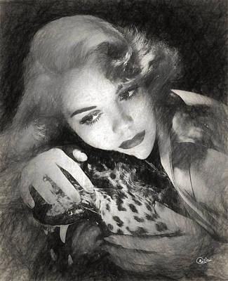 Jane Wyman Drawn Poster by Quim Abella