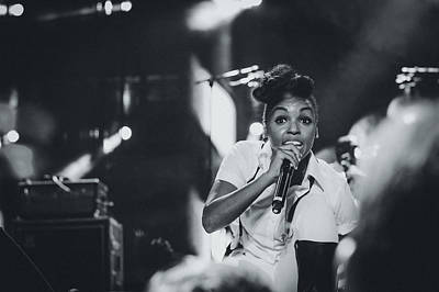 Janelle Monae Playing Live Poster by Marco Oliveira