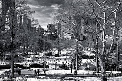 January In Central Park Poster by John Rizzuto