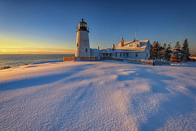 January Morn At Pemaquid Point Poster