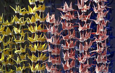Japanese Cranes Poster by David Harding