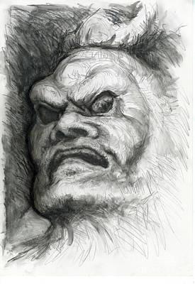 Japanese Demon Poster by Tim Thorpe