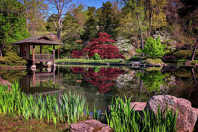 Poster featuring the photograph Japanese Garden At Maymont by Rick Berk