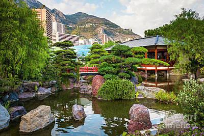 Japanese Garden In Monte Carlo Poster
