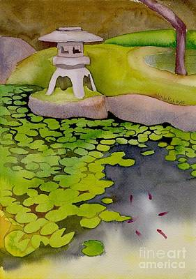 Poster featuring the painting Japanese Garden by Yolanda Koh