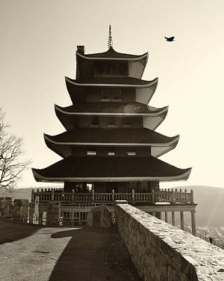 Japanese Pagoda Overlooking Reading Pa Poster by Bill Cannon